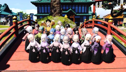 【FF14】東方女学生衣装セットの撮影会に行ってきました